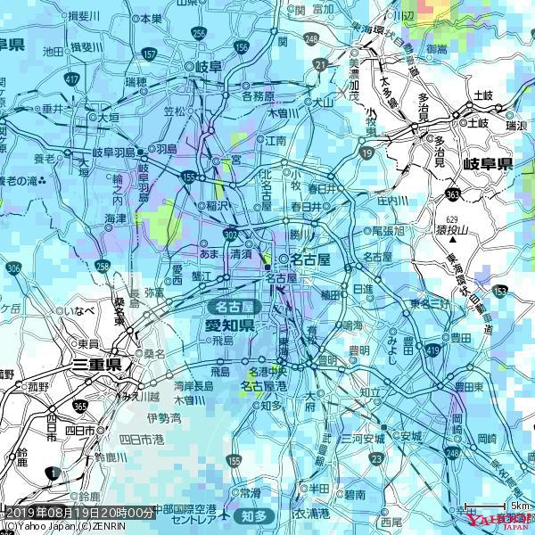 名古屋の天気(雨): やや強い雨 降水強度: 11.50(mm/h)  2019年08月19日 20時00分の雨雲 https://t.co/cYrRU9sV0H #雨雲bot #bot https://t.co/rqZ4n8102Q