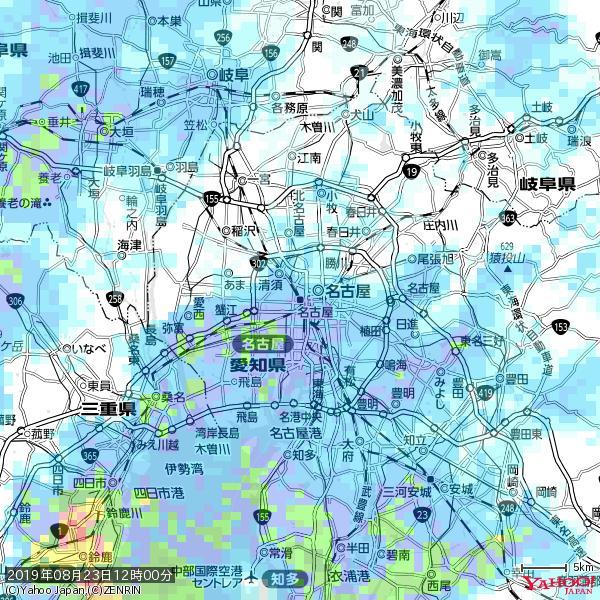 名古屋の天気(雨) 降水強度: 8.75(mm/h)  2019年08月23日 12時00分の雨雲 https://t.co/cYrRU9sV0H #雨雲bot #bot https://t.co/zsG3eGuujq