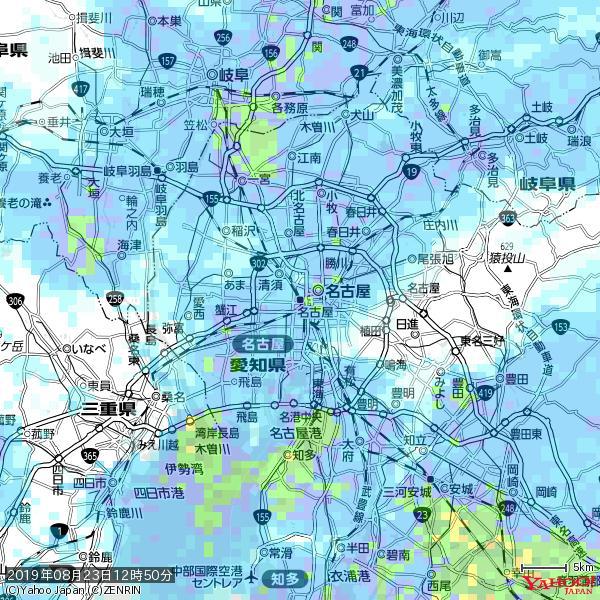 名古屋の天気(雨) 降水強度: 8.25(mm/h)  2019年08月23日 12時50分の雨雲 https://t.co/cYrRU9sV0H #雨雲bot #bot https://t.co/xwNnzjFwKS
