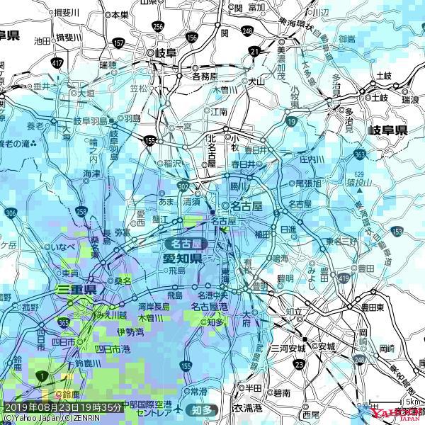 名古屋の天気(雨) 降水強度: 8.25(mm/h)  2019年08月23日 19時35分の雨雲 https://t.co/cYrRU9sV0H #雨雲bot #bot https://t.co/1M7evOQSaC