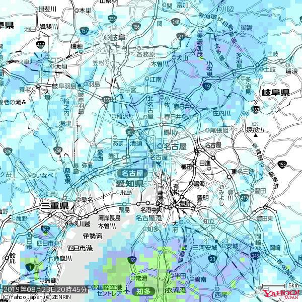 名古屋の天気(雨) 降水強度: 1.75(mm/h)  2019年08月23日 20時45分の雨雲 https://t.co/cYrRU9sV0H #雨雲bot #bot https://t.co/At1nIVP83D