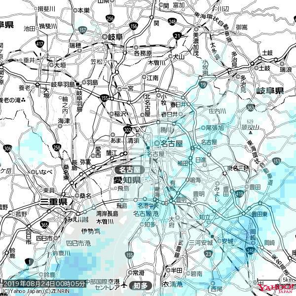 名古屋の天気(雨) 降水強度: 1.35(mm/h)  2019年08月24日 00時05分の雨雲 https://t.co/cYrRU9sV0H #雨雲bot #bot https://t.co/W3adzsEHVe