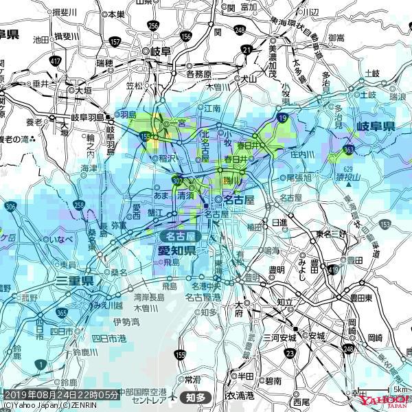 名古屋の天気(雨) 降水強度: 9.25(mm/h)  2019年08月24日 22時05分の雨雲 https://t.co/cYrRU9sV0H #雨雲bot #bot https://t.co/JiYxPBBcln
