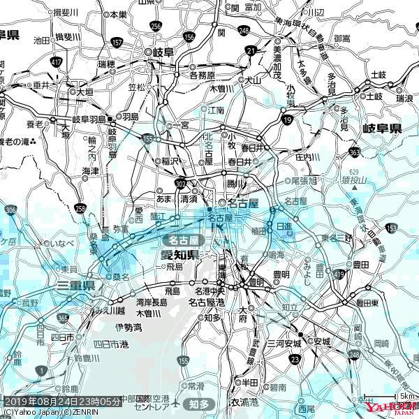 名古屋の天気(雨) 降水強度: 3.63(mm/h)  2019年08月24日 23時05分の雨雲 https://t.co/cYrRU9sV0H #雨雲bot #bot https://t.co/OS7ZPiJBaZ