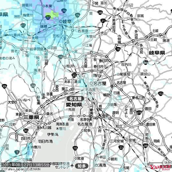 名古屋の天気(雨) 降水強度: 1.55(mm/h)  2019年08月27日 13時55分の雨雲 https://t.co/cYrRU9sV0H #雨雲bot #bot https://t.co/3OOZqDH2O1