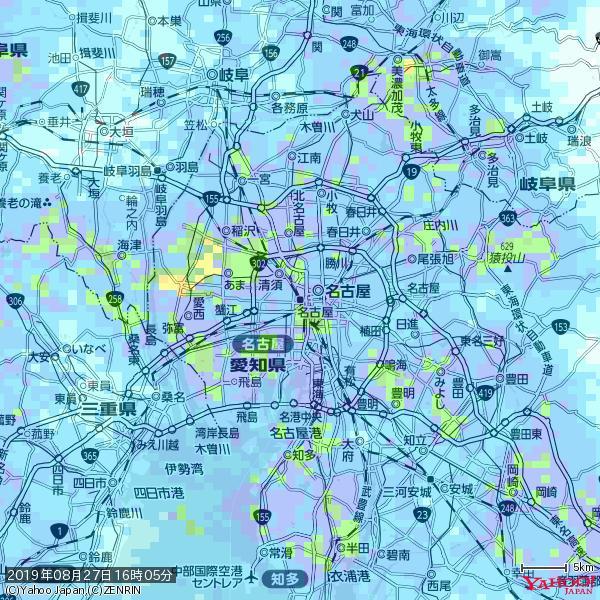 名古屋の天気(雨): やや強い雨 降水強度: 10.50(mm/h)  2019年08月27日 16時05分の雨雲 https://t.co/cYrRU9sV0H #雨雲bot #bot https://t.co/VLezv1amR6