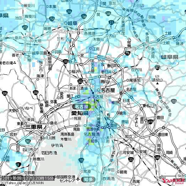 名古屋の天気(雨) 降水強度: 6.75(mm/h)  2019年08月27日 20時15分の雨雲 https://t.co/cYrRU9sV0H #雨雲bot #bot https://t.co/bJYpWjWPuR