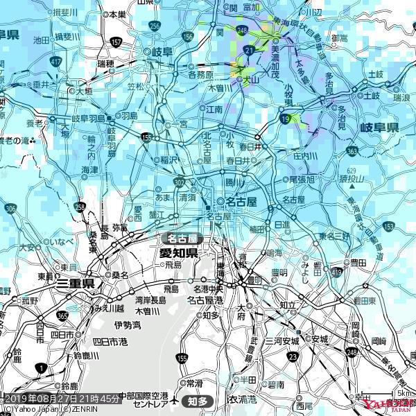 名古屋の天気(雨) 降水強度: 2.13(mm/h)  2019年08月27日 21時45分の雨雲 https://t.co/cYrRU9sV0H #雨雲bot #bot https://t.co/D6zZf33dwi