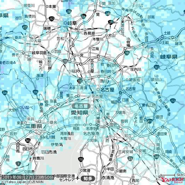 名古屋の天気(雨) 降水強度: 3.38(mm/h)  2019年08月27日 23時50分の雨雲 https://t.co/cYrRU9bk99 #雨雲bot #bot https://t.co/3cgWWMq3Gc