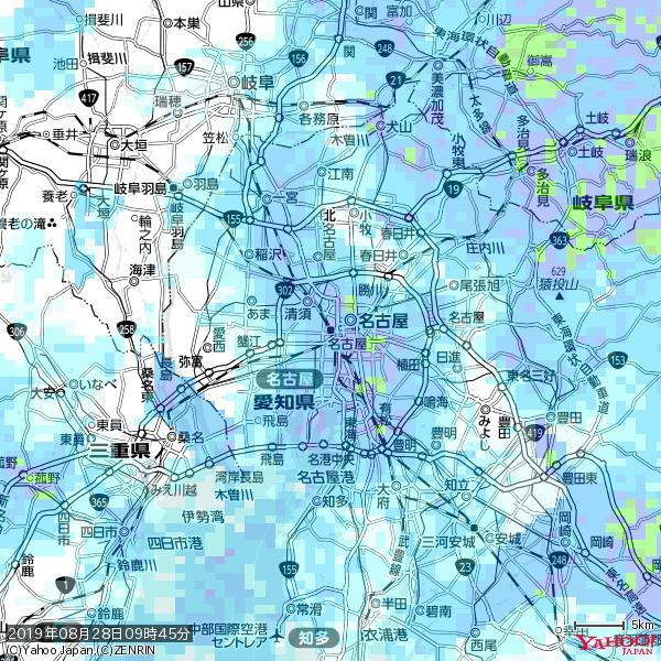 名古屋の天気(雨) 降水強度: 8.25(mm/h)  2019年08月28日 09時45分の雨雲 https://t.co/cYrRU9sV0H #雨雲bot #bot https://t.co/LQxSAB9dkp