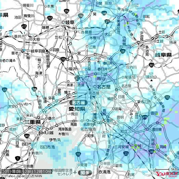 名古屋の天気(雨) 降水強度: 2.63(mm/h)  2019年08月28日 12時10分の雨雲 https://t.co/cYrRU9sV0H #雨雲bot #bot https://t.co/510wxONSeQ