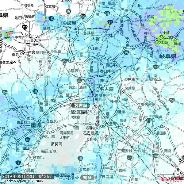 名古屋の天気(雨) 降水強度: 4.88(mm/h)  2019年08月28日 14時25分の雨雲 https://t.co/cYrRU9bk99 #雨雲bot #bot https://t.co/cSyAUx58ot