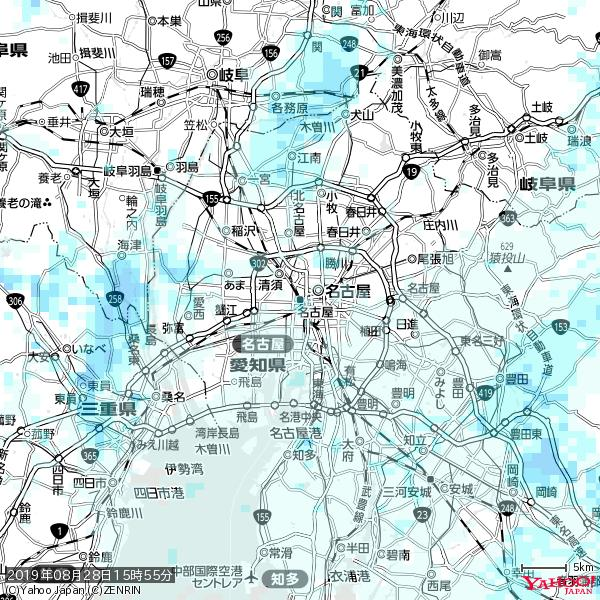 名古屋の天気(雨) 降水強度: 1.25(mm/h)  2019年08月28日 15時55分の雨雲 https://t.co/cYrRU9bk99 #雨雲bot #bot https://t.co/Y6YPfknVz0