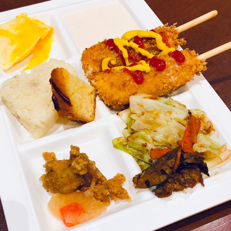 いま話題?のチーズハットグもある。ケチャップとマスタードとグラニュー糖かけて食べる。 (@ 太陽のごちそう in 豊山町, 愛知県) https://t.co/l7WI32srnR https://t.co/fEHn4jAHNB