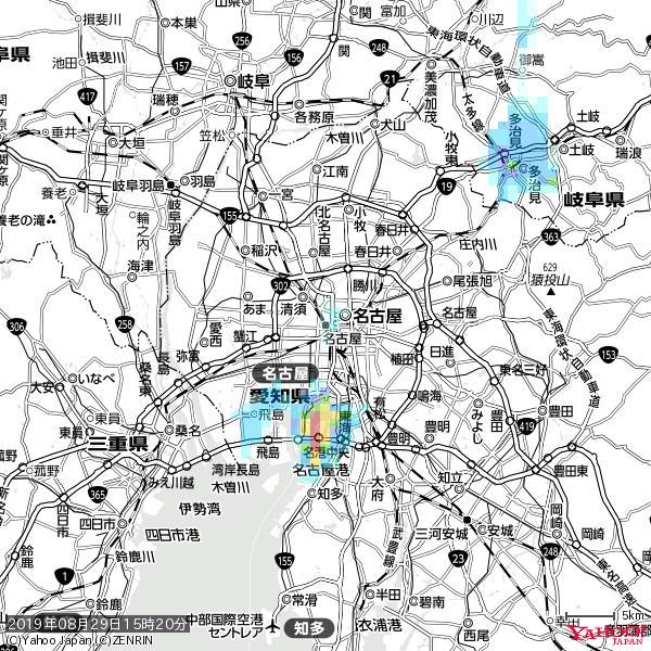 名古屋の天気(雨) 降水強度: 0.65(mm/h)  2019年08月29日 15時20分の雨雲 https://t.co/cYrRU9sV0H #雨雲bot #bot https://t.co/FSbJKpoX3j