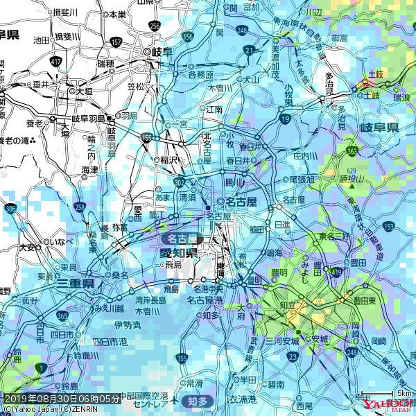 名古屋の天気(雨): やや強い雨 降水強度: 10.50(mm/h)  2019年08月30日 06時05分の雨雲 https://t.co/cYrRU9sV0H #雨雲bot #bot https://t.co/2XRyBohRTG