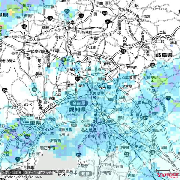 名古屋の天気(雨) 降水強度: 4.13(mm/h)  2019年08月30日 15時25分の雨雲 https://t.co/cYrRU9sV0H #雨雲bot #bot https://t.co/IKTAx1abEh
