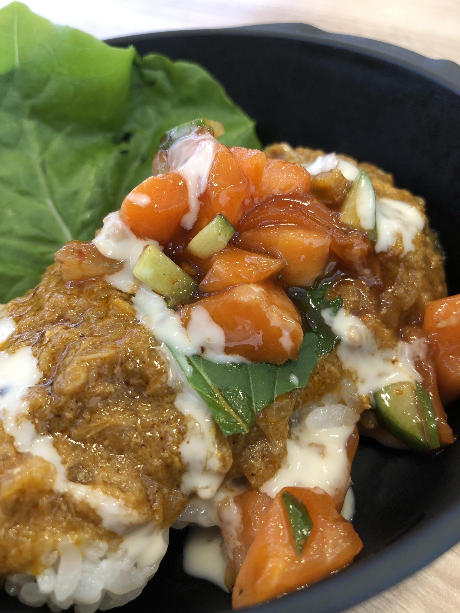 かっぱ寿司で海鮮シャリーマ・カレー。ツナのキーマカレーらしい。なかなか美味しい。 https://t.co/278oJCqXtP
