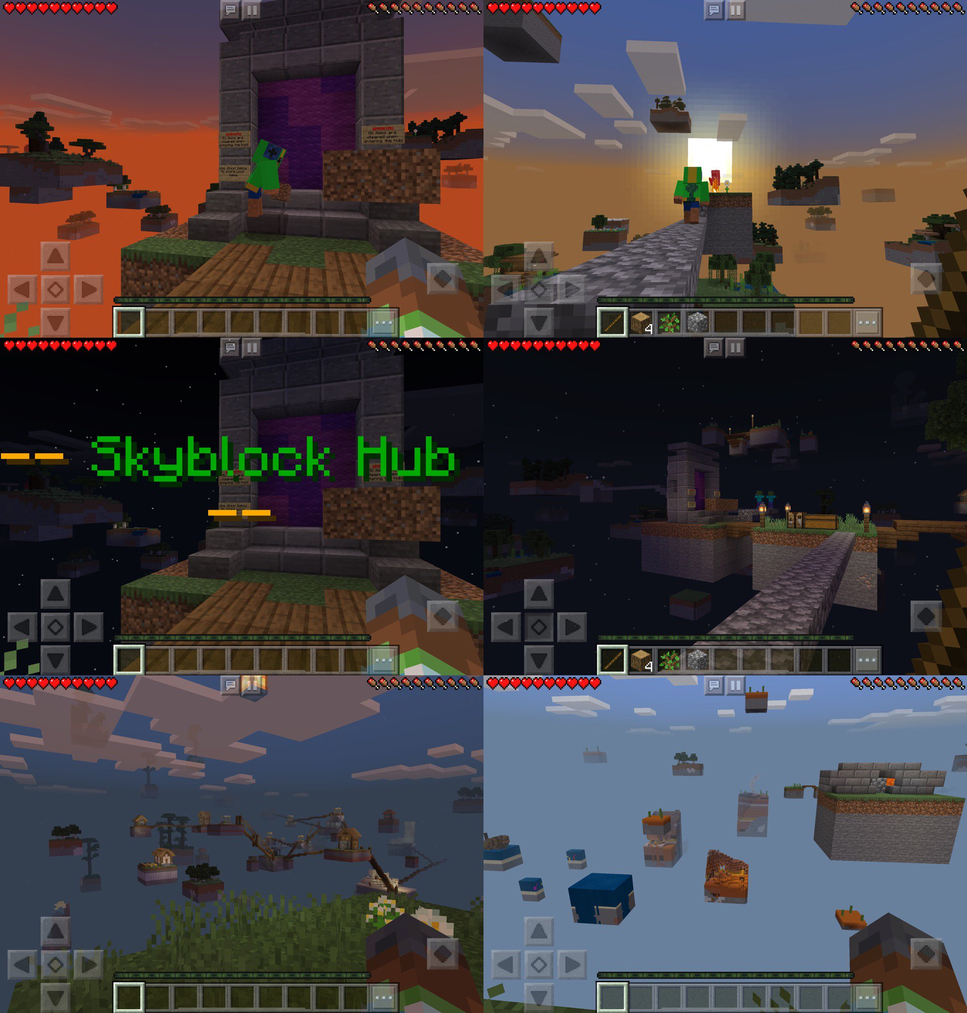 Minecraft Skyblock 落ちそうになる((((;゚Д゚)))) モンスターもいる。 https://t.co/TpID0X7mBs