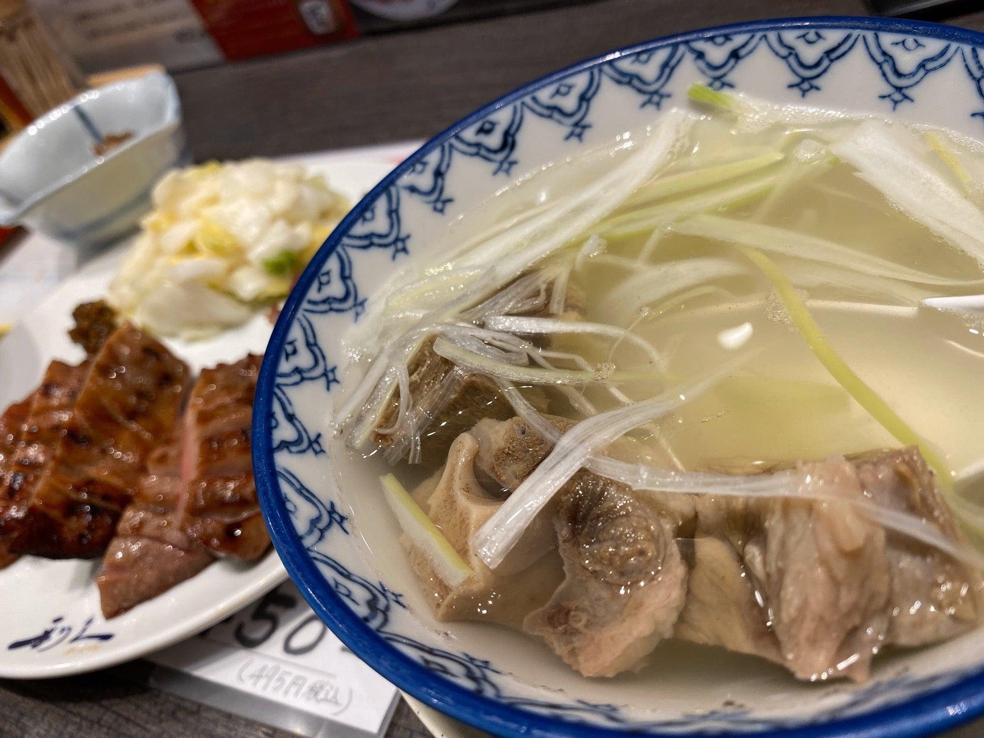 テールスープには骨とか肉とかごろっと入ってる。 (@ 牛たん炭焼 利久 in 名古屋市, 愛知県) https://t.co/UcvrOzh6AG https://t.co/36Y0Qm4DGv