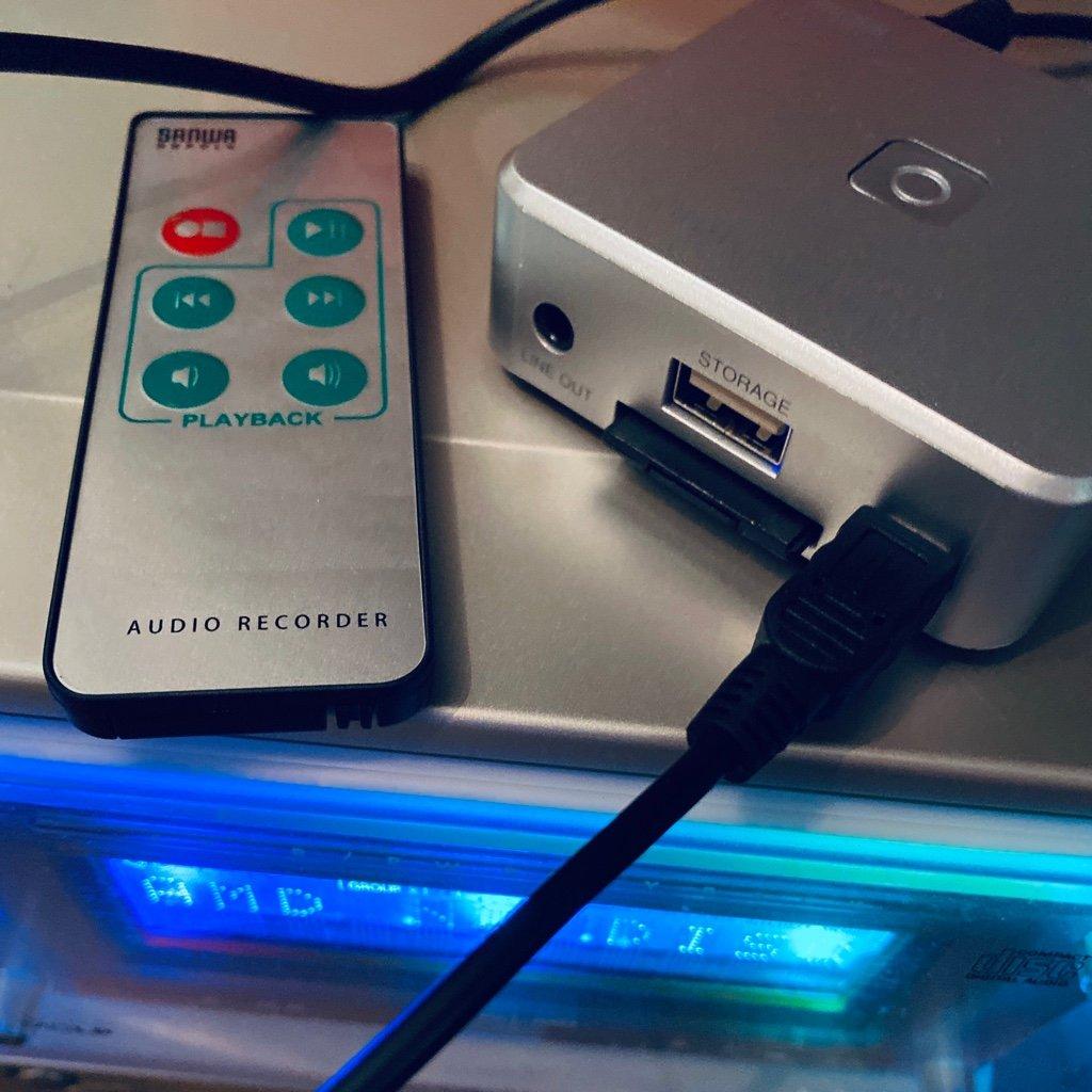 SANWA SUPPLY 400-MEDI025 を Amazonマケプレ (サンワサプライ直営) にて 3180円で購入。  サンワダイレクト オーディオキャプチャー パソコン不要 アナログ音声デジタル化 SD/USBメモリ 保存 カセット/MD/レコード MP3変換 RCA/ステレオミニ外部入力 https://t.co/c0CWkKosHz https://t.co/4htpsrug5G