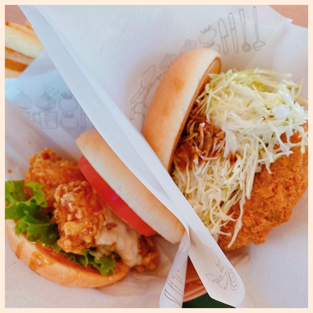 ちょーしょく。海老天七味マヨ and ジャンボメンチ at モスバーガー https://t.co/KQMc9nqAtK