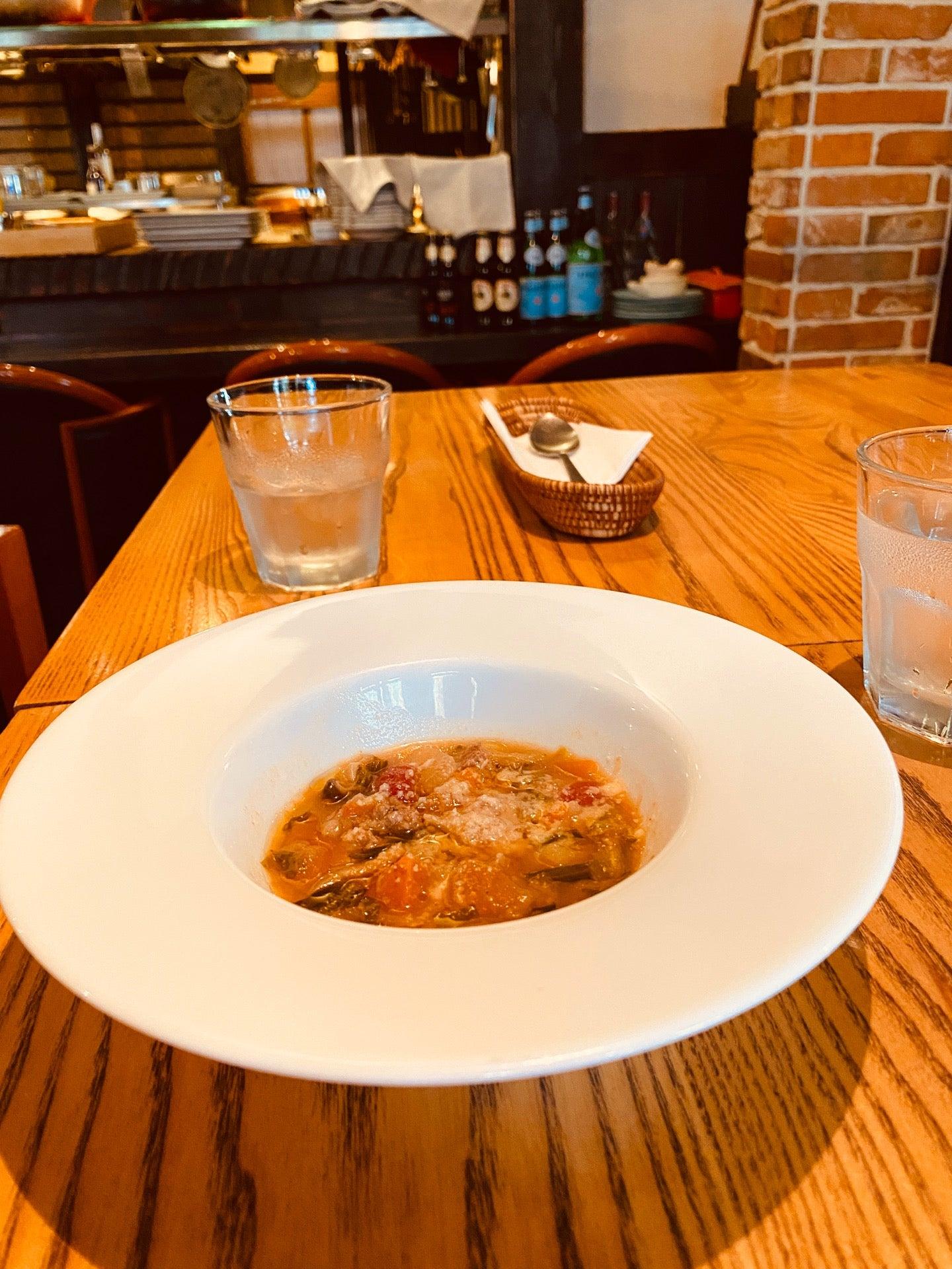野菜とソーセージのスープ (@ イタリア料理 Kan in 小牧市, 愛知県) https://t.co/4DVA04xaGT https://t.co/MzblpqHAUR