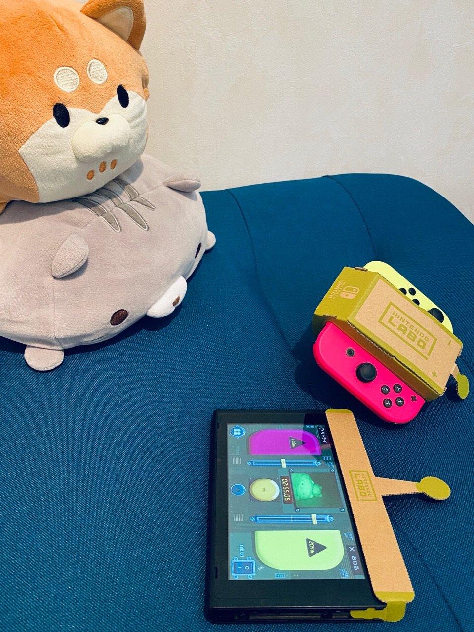 Nintendo Labo でリモコンカー&アンテナ。赤外線に映る猫たち。 https://t.co/jAeVJ0NFl7