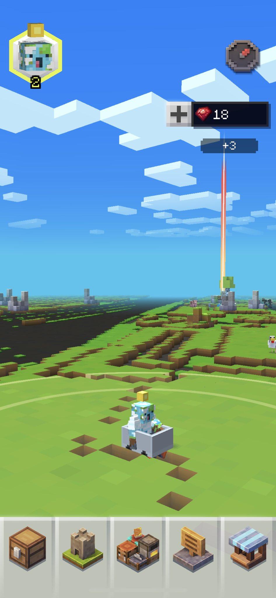 Minecraft Earth で移動スピードがそれなりに速いとトロッコに乗るらしい。 https://t.co/iwpGDaUPNa