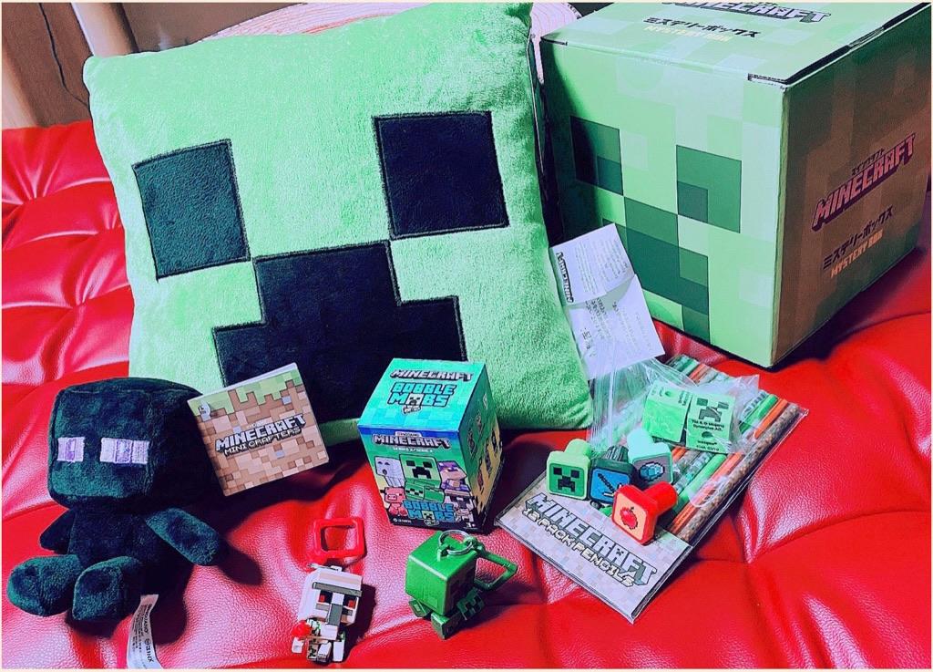 マインクラフト ミステリーボックス クリーパー。イオンとゲオだけで販売されている福袋的なアイテム。 https://t.co/rYYXx0eZvQ