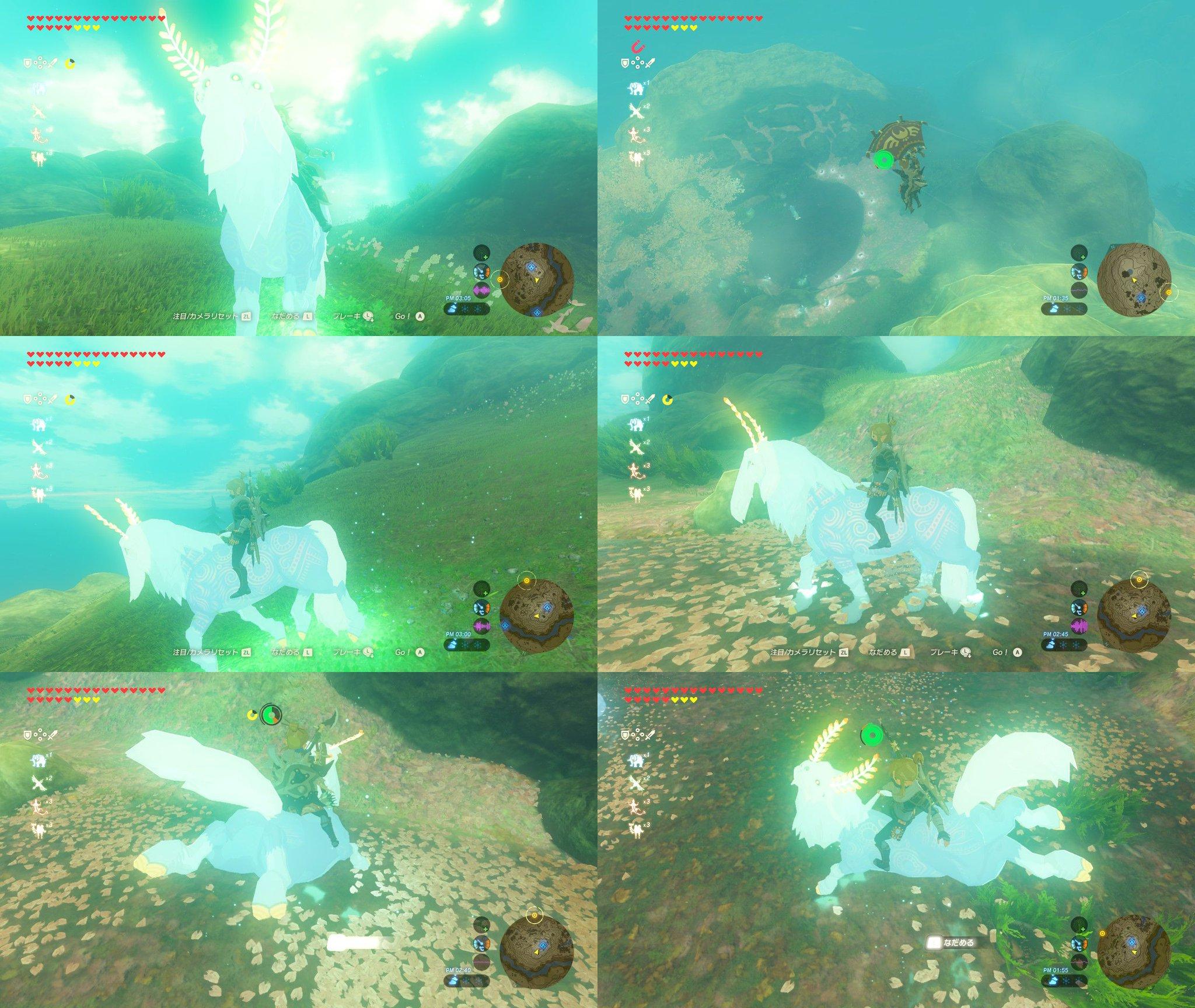 サトリ山のヌシをパラセールで上空から近づいてようやく捕まえた。どうどう🐴 #ゼルダの伝説 #BreathoftheWild #NintendoSwitch https://t.co/3ZZ4CABxm6