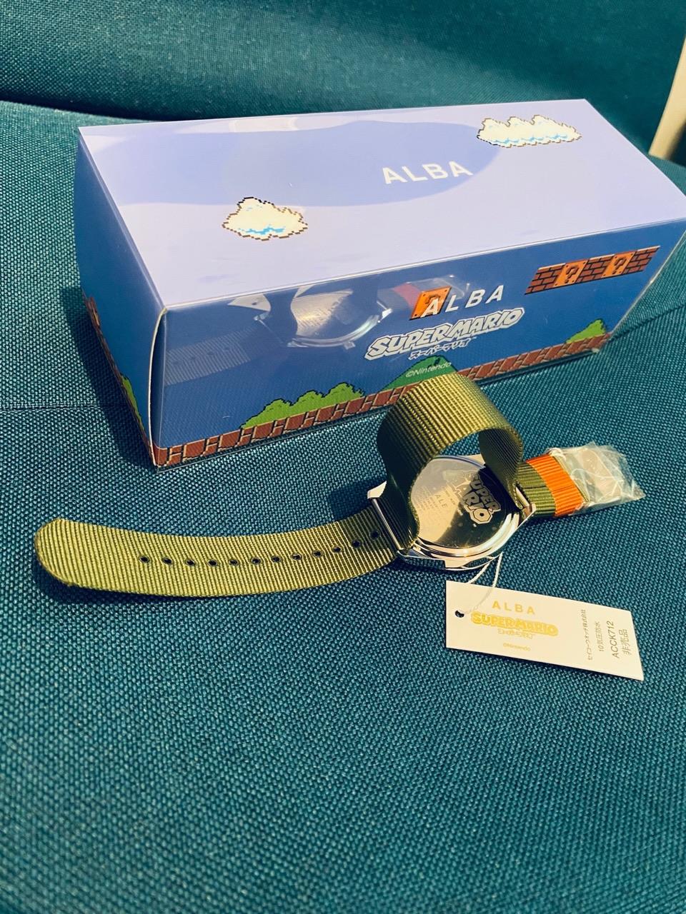 ALBA スーパーマリオウォッチコレクション アクティブマリオ キャンペーン限定カラーモデル ACCK712 非売品 10気圧防水 時計の裏側 https://t.co/syDJpuhYhP