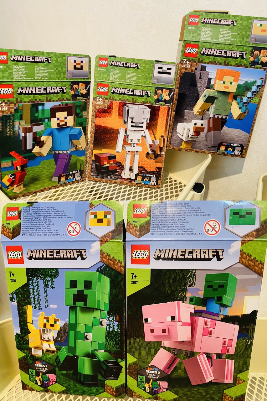 LEGO Minecraft BigFig Series 1 and 2 https://t.co/Utd93gIF2f