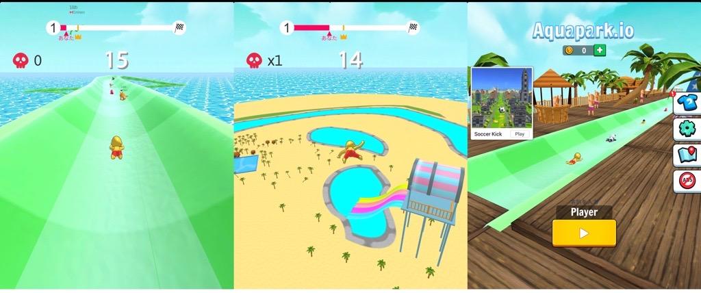 Aquapark io ウォータースライダー ゲーム。 https://t.co/DEbYj8aQ6B