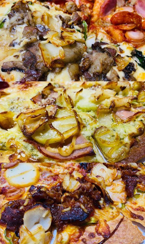 ドミノ・ピザの裏メニュー(∩´∀`)∩裏ドミノにはマヨネーズとガーリックが多め🍕🧄  禁断の炭火焼ビーフ、ギルティー・ジェノベーゼ、背徳の高麗カルビ。 https://t.co/kPY8UurLQg