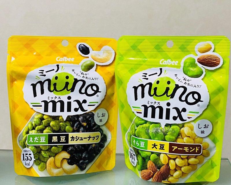 ミーノ miino mix 2種類をゲット。えだ豆、黒豆、カシューナッツ、そら豆、大豆、アーモンド。 https://t.co/OBqhvaLiXM