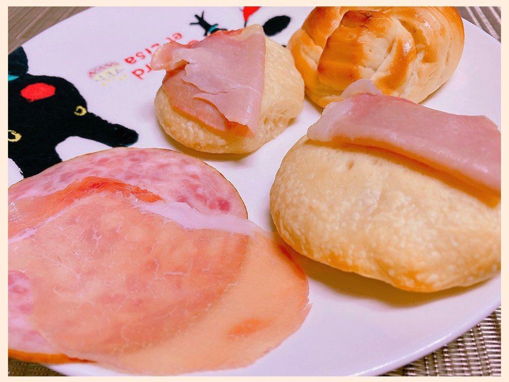 手づくりパンと生ハムととシャウスライスな朝食。 https://t.co/AfNfv4p9p4