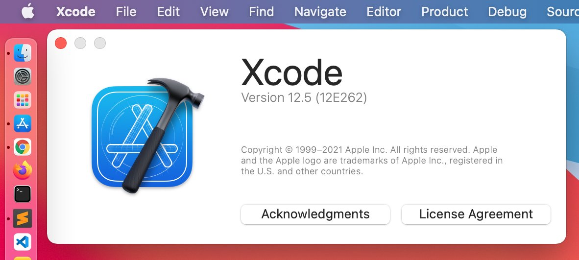 Xcode version 12.5 cames here! https://t.co/xsSoWleSvM