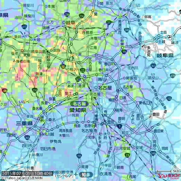 名古屋の天気(雨): やや強い雨降水強度: 12.50(mm/h) 2015年07月01日 10時40分の雨雲 http://t.co/cYrRU9sV0H #雨雲bot #bot http://t.co/LdvwojPWqG