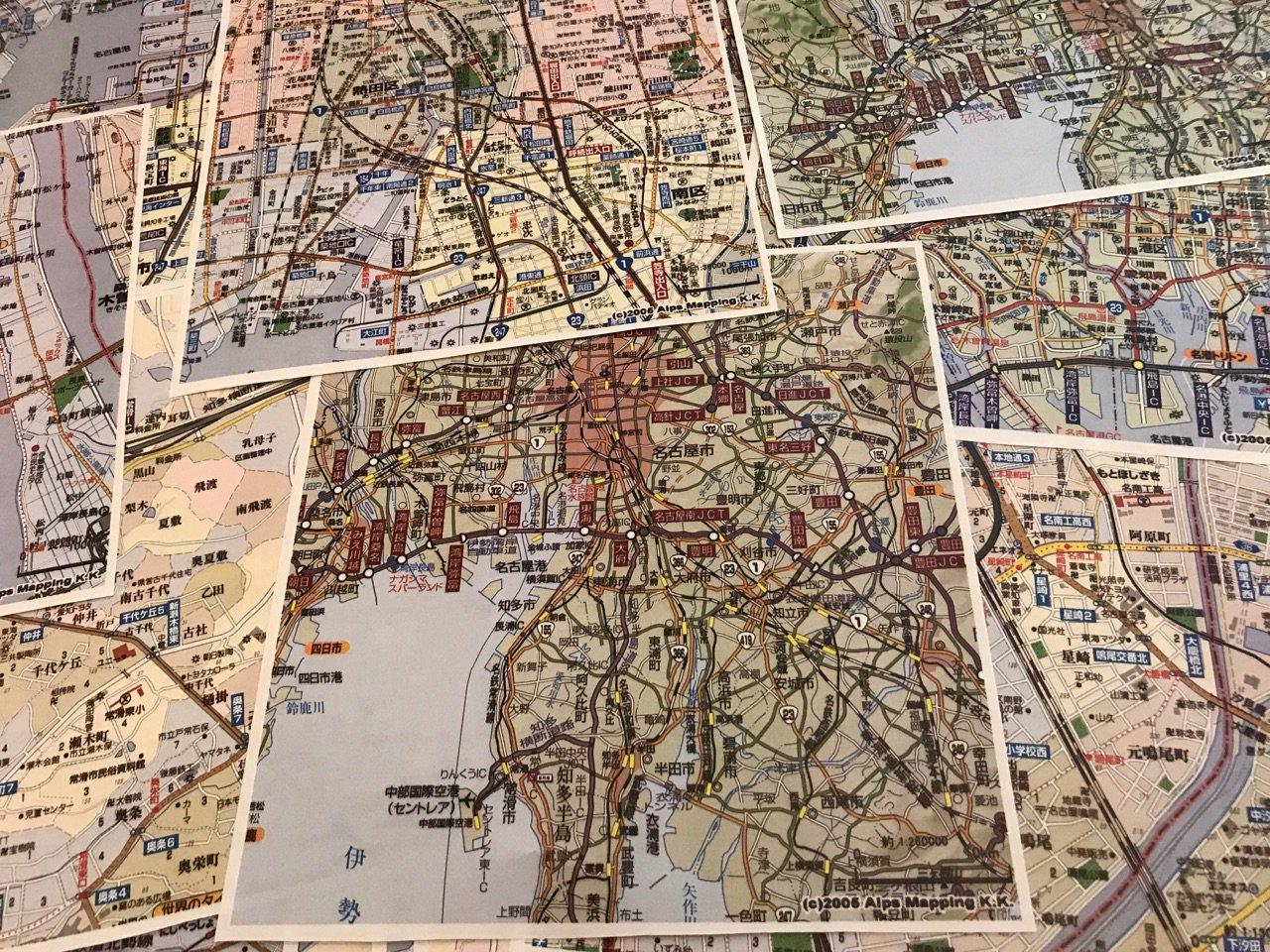 10年ぐらい前にパソコンで印刷した地図がたくさん出てきた。 https://t.co/RnA7bnkgN6