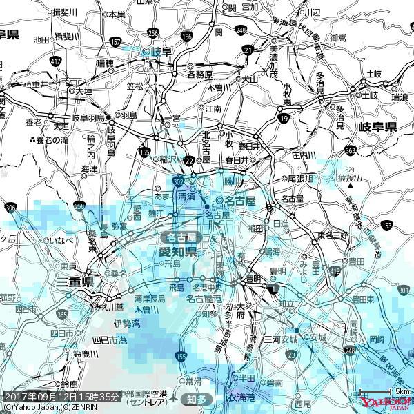 名古屋の天気(雨) 降水強度: 6.25(mm/h)  2017年09月12日 15時35分の雨雲 https://t.co/cYrRU9sV0H #雨雲bot #bot https://t.co/c5vAPT2aX1