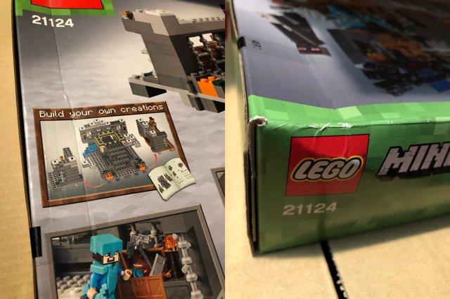 Amazonマーケットプレイスで税込み8480円。箱が少しつぶれてた(  ;∀;) 中身に影響するほどではないと思うけど。。。ちなみにレゴ公式ショップでは税込みで10700円ちょっと。  輸入レゴマインクラフト LEGO Minecraft The End Portal 21124 [並行輸入品] https://t.co/LkLRBCUA8K https://t.co/WO00fkR7f6
