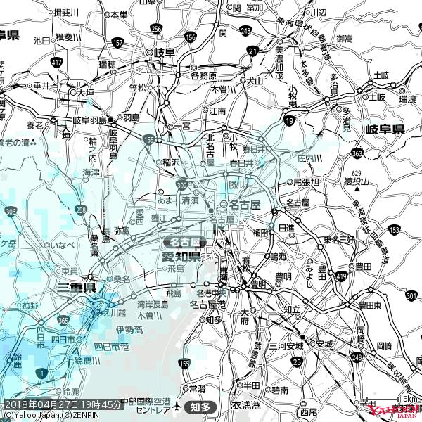 名古屋の天気(雨) 降水強度: 0.65(mm/h)  2018年04月27日 19時45分の雨雲 https://t.co/cYrRU9sV0H #雨雲bot #bot https://t.co/DHwqlcum5U