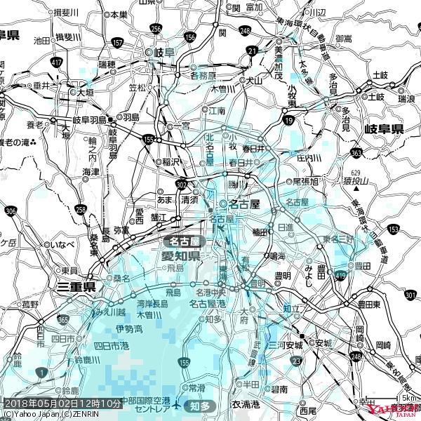 名古屋の天気(雨) 降水強度: 0.85(mm/h)  2018年05月02日 12時10分の雨雲 https://t.co/cYrRU9sV0H #雨雲bot #bot https://t.co/k5rDygXK6v