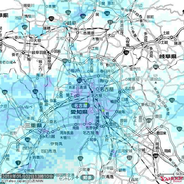 名古屋の天気(雨) 降水強度: 7.25(mm/h)  2018年05月02日 13時10分の雨雲 https://t.co/cYrRU9sV0H #雨雲bot #bot https://t.co/VS942Kgj3G