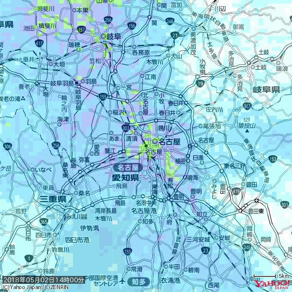 名古屋の天気(雨): やや強い雨 降水強度: 15.50(mm/h)  2018年05月02日 14時00分の雨雲 https://t.co/cYrRU9sV0H #雨雲bot #bot https://t.co/47hwyN7g4X