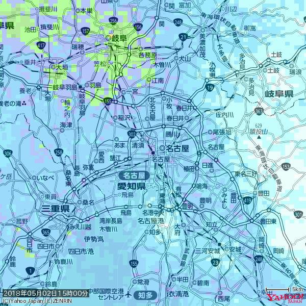 名古屋の天気(雨) 降水強度: 9.75(mm/h)  2018年05月02日 15時00分の雨雲 https://t.co/cYrRU9sV0H #雨雲bot #bot https://t.co/eZD3Qof2uJ