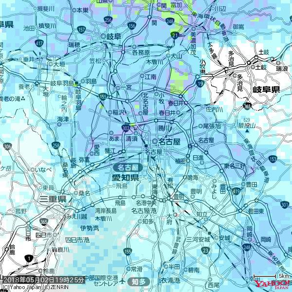 名古屋の天気(雨) 降水強度: 7.25(mm/h)  2018年05月02日 19時25分の雨雲 https://t.co/cYrRU9sV0H #雨雲bot #bot https://t.co/x6W62nwwFb