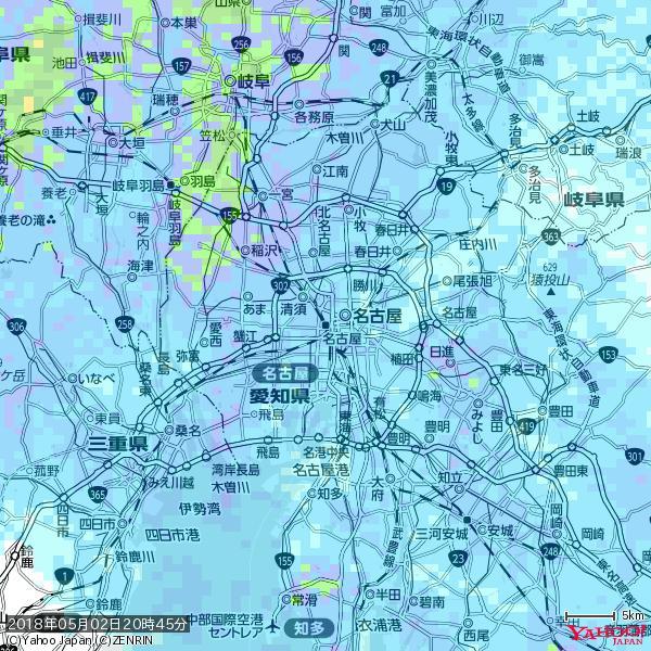 名古屋の天気(雨) 降水強度: 7.75(mm/h)  2018年05月02日 20時45分の雨雲 https://t.co/cYrRU9sV0H #雨雲bot #bot https://t.co/DQpuZrb7uM