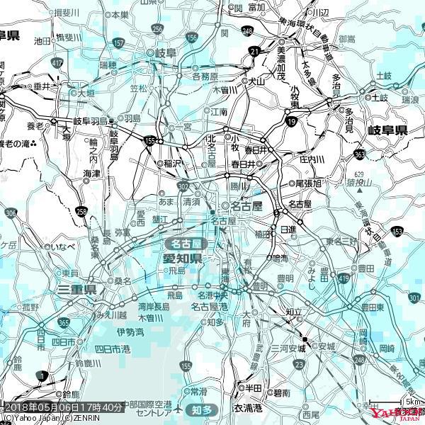 名古屋の天気(雨) 降水強度: 1.25(mm/h)  2018年05月06日 17時40分の雨雲 https://t.co/cYrRU9sV0H #雨雲bot #bot https://t.co/Ddy6R9HjUR